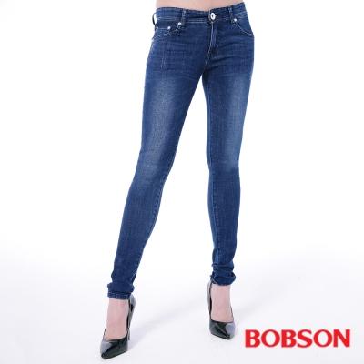 BOBSON 大彈力緊身牛仔褲(JEGGING)-深藍
