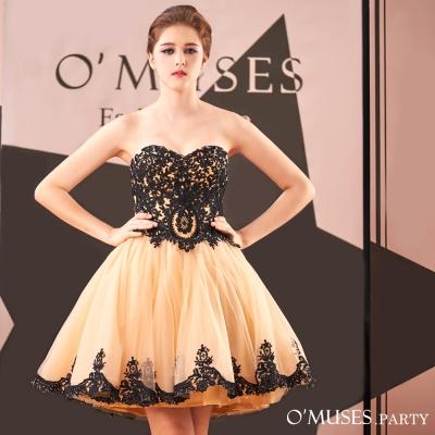 宮廷蕾絲刺繡婚紗伴娘禮服-OMUSES
