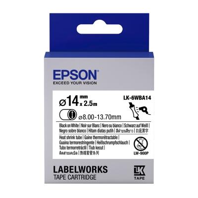 EPSON C53S656903 LK-6WBA14熱縮套管系列白底黑字標籤帶(寬24mm