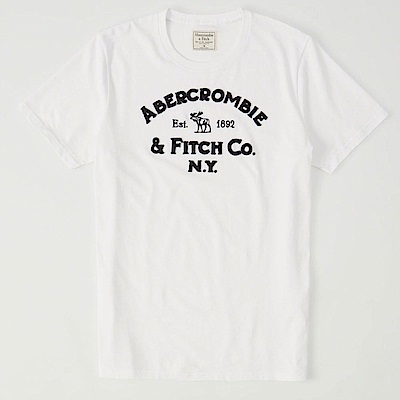 AF a&f Abercrombie & Fitch 短袖 T恤 白色 11112