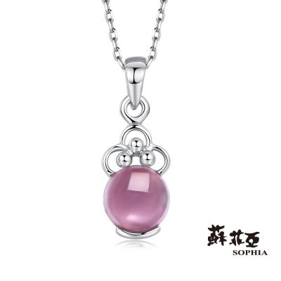 蘇菲亞SOPHIA 玩美寶石系列-粉色碧璽寶石項鍊