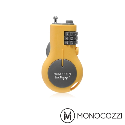 MONOCOZZI RETRACTABLE LUGGAGE LOCK 旅行伸縮密碼鎖-嫩黃