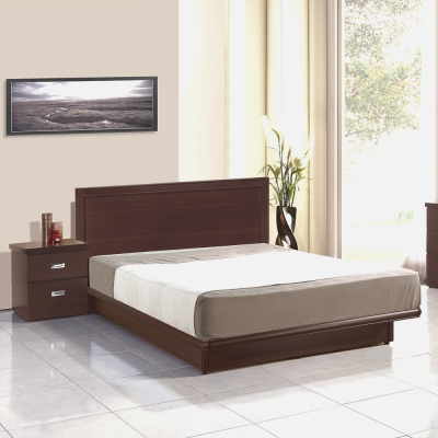 群居空間 湯姆5尺掀床房間組 床頭片+掀床+床墊 胡桃色
