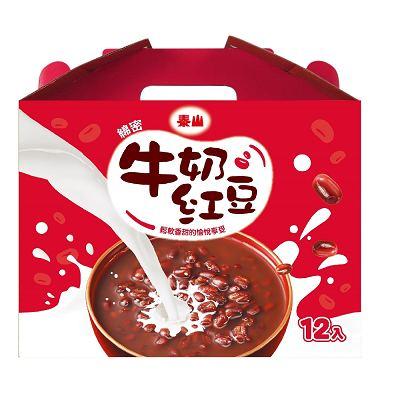 泰山 綿密牛奶紅豆禮盒(330gx12入)