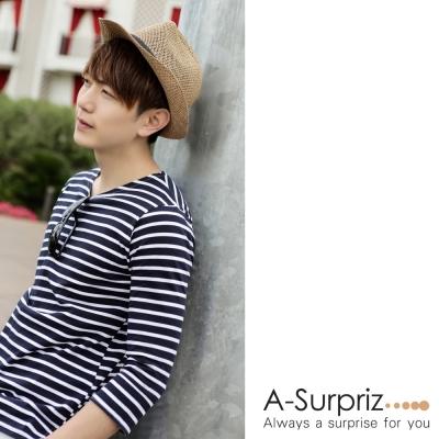 A-Surpriz 時尚雅痞風格紳士帽(淺咖)