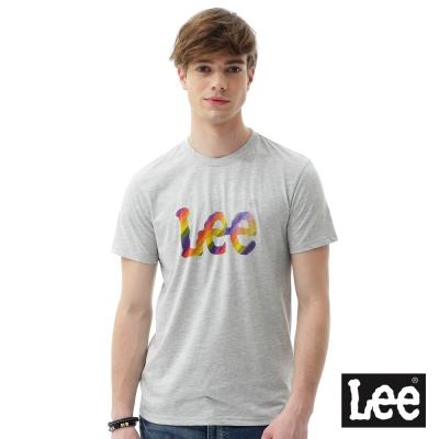 Lee 短袖T恤 彩虹logo印刷短袖圓領TEE/RG-男款-灰