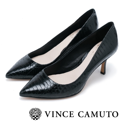 VInce Camuto 美型動物紋中跟鞋-黑色
