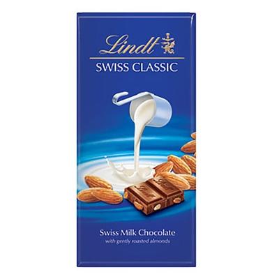 瑞士蓮LINDT-經典杏仁牛奶巧克力片-100g