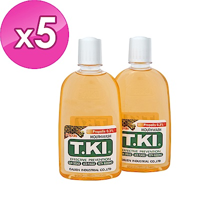 T.KI 蜂膠漱口水-350mlX5組共10瓶