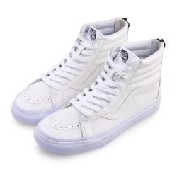 (男)VANS SK8-Hi 經典皮革高筒休閒鞋*白色