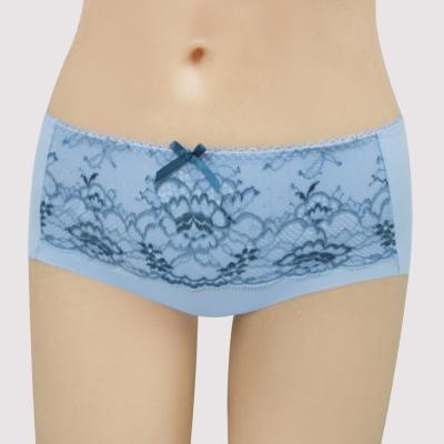 曼黛瑪璉-16SS包覆提托-雙弧  低腰平口無痕內褲(貝殼藍)