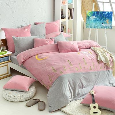 義大利Fancy Belle X Malis 寧靜夜的星空 單人三件式色坊針織被套床包組