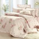 MONTAGUT-花映柔情-精梳棉-加大七件式鋪棉床罩組