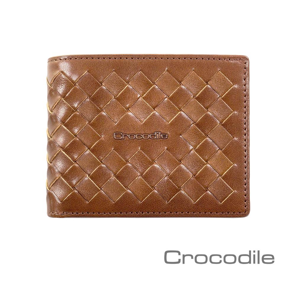 Crocodile Natural x Woven編織系列短夾 0103-07305