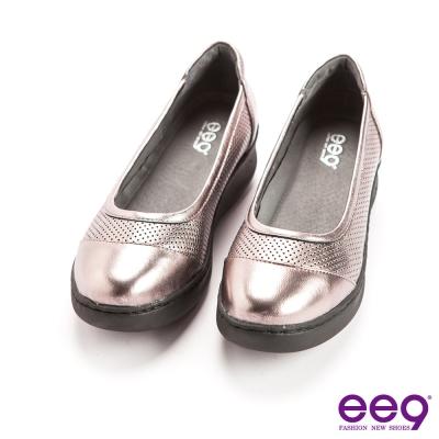 ee9率性風采~青春活力異材質併接超輕素面百搭休閒鞋*灰色