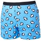 SOLIS 俏皮企鵝系列印花四角男童褲(水晶藍)