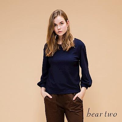 beartwo 網路獨家-簡約感小澎袖造型上衣(2色)