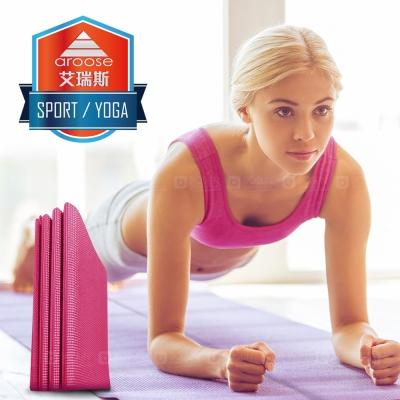 aroose 艾瑞斯-可摺疊 3mm 雙面止滑超輕便好攜帶瑜珈墊-蜜桃紅(贈提袋)