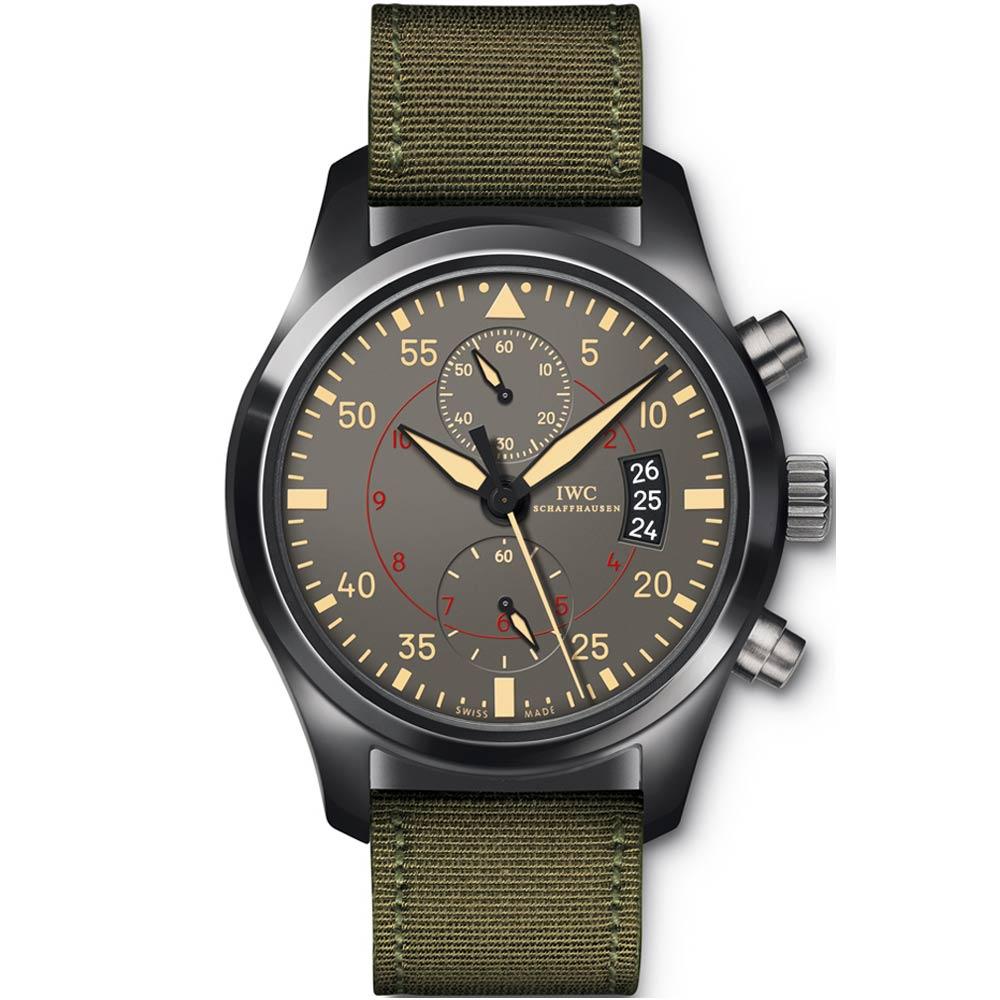 IWC萬國錶捍衛戰警TOP GUN海軍空戰部隊計時腕錶IW388002-46mm