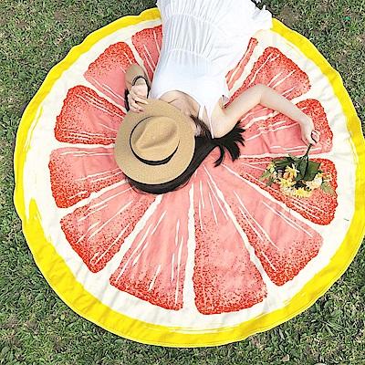 Avalanche巴西泳裝-歐美風時尚沙灘墊-葡萄柚款
