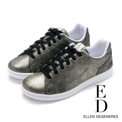 ED Ellen DeGeneres 拼接百搭綁帶休閒鞋-金色