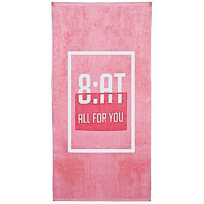 8:AT  棉絨印花大浴巾(亮彩粉)