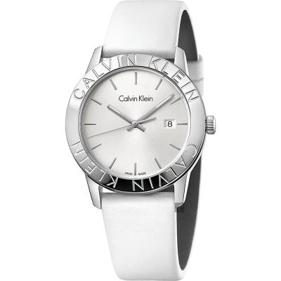 Calvin Klein CK Steady 美式潮流手錶-銀/38mm