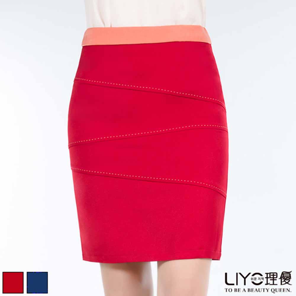 LIYO理優 正韓短裙OL淑女修身瘦臀窄裙