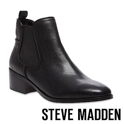 STEVE MADDEN-DICEY 真皮雀爾喜靴-黑色