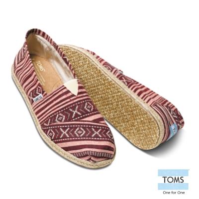 TOMS 圖紋編織懶人鞋-男款(紅)