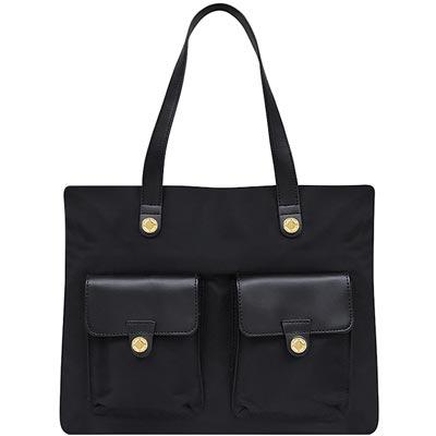 Calvin Klein 黑色輕量尼龍托特包