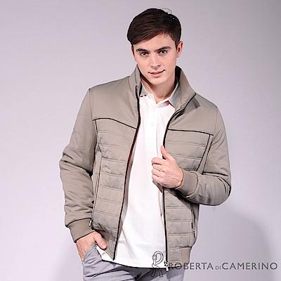ROBERTA諾貝達 禦寒保暖 優雅品味 厚舖棉夾克外套 卡其