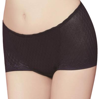 思薇爾 舒曼曲現系列M-XL中腰平口修飾褲(紫鐵黑)