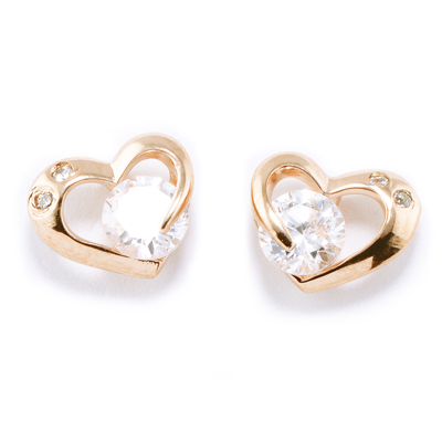 【山本美樹】藏心 奧地利水晶針式耳環(共二色)