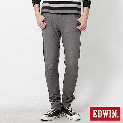 EDWIN 迦績褲EF磨毛保溫直筒色褲-男-灰色