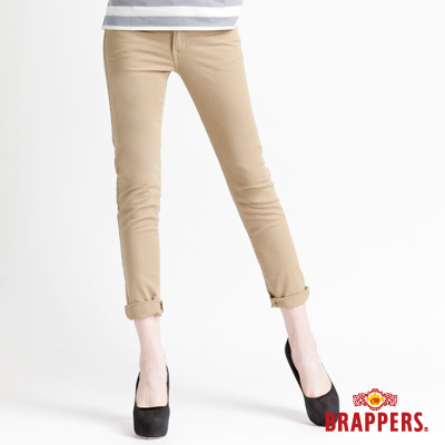 BRAPPERS 女款 新美腳Royal系列-女用彈性九分褲-卡其
