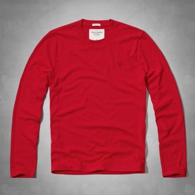 AF a&f Abercrombie & Fitch 長袖 T恤 紅色 156