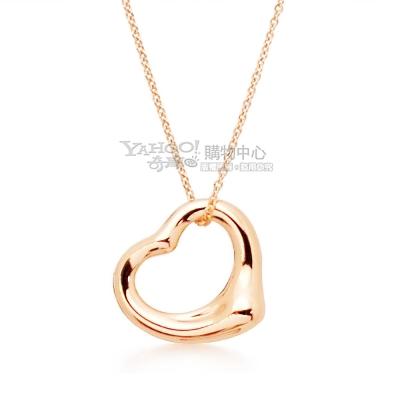 Tiffany&Co. Open Heart 玫瑰金 愛心墜飾項鍊