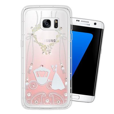 WT Samsung Galaxy S7 edge 奧地利水晶彩繪空壓手機殼(精...