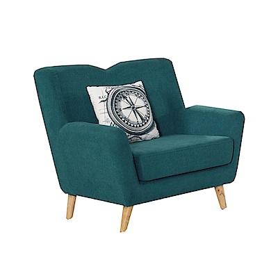 品家居 比其爾棉麻布實木沙發單人座-96x80x90cm-免組