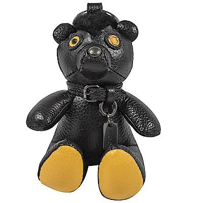 COACH BEAR 熊熊造型鑰匙圈(黑/黃)