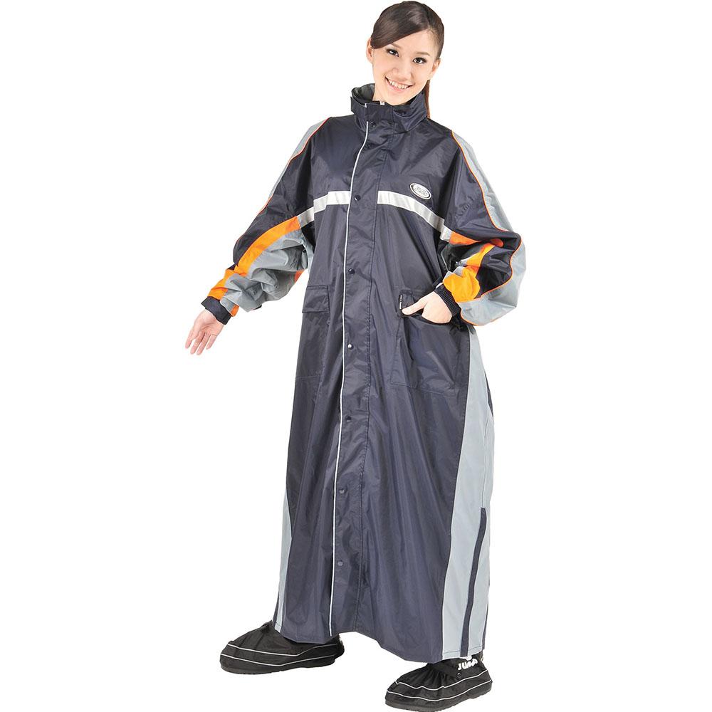 JUMP 將門 飄彩MIT 雙側開反光連身休閒風雨衣(2XL~5XL)加大尺寸