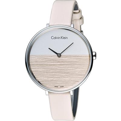 ck Calvin Klein K7A rise 晨曦系列 時尚腕錶-粉/38mm