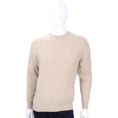 Andre Maurice  肘拼接設計麻花針織上衣(100% CASHMERE)