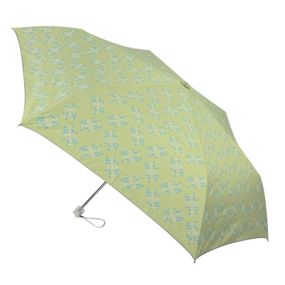 2mm 銀膠抗UV 粉彩花漾超細手開傘 (蜂蜜綠)_快速到貨