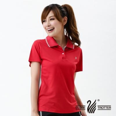 【遊遍天下】MIT台灣製女款吸濕排汗抗UV機能POLO衫S076紅