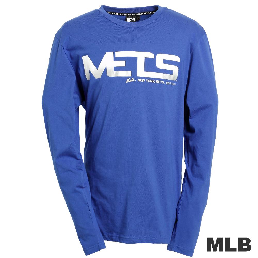 MLB-紐約大都會隊字母logo棉質T恤-藍(男)