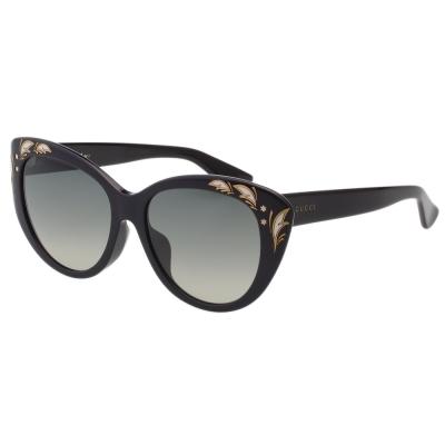 GUCCI- 貓眼 花園系列 太陽眼鏡 (黑色)
