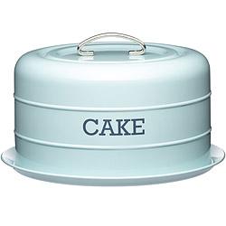 KitchenCraft 復古蛋糕密封盤(藍)