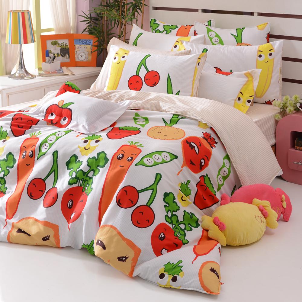 義大利Fancy Belle 蔬果樂園 加大純棉床包枕套組